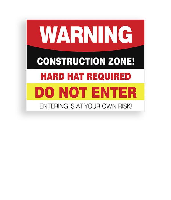 Sign Warning Construction Zone